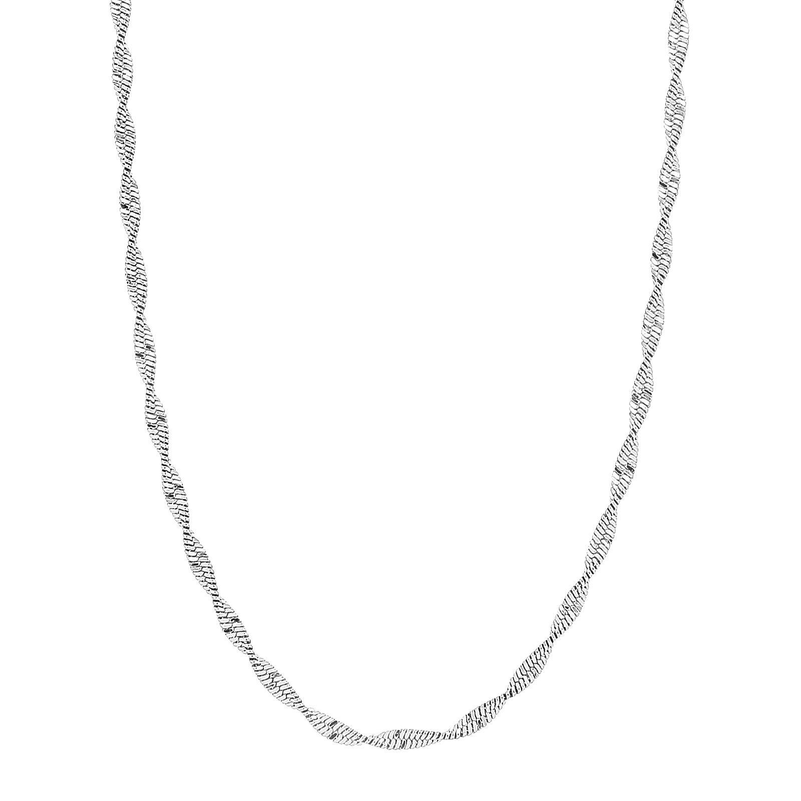 Nordahl 225 133 halskæde, rhodineret sølv