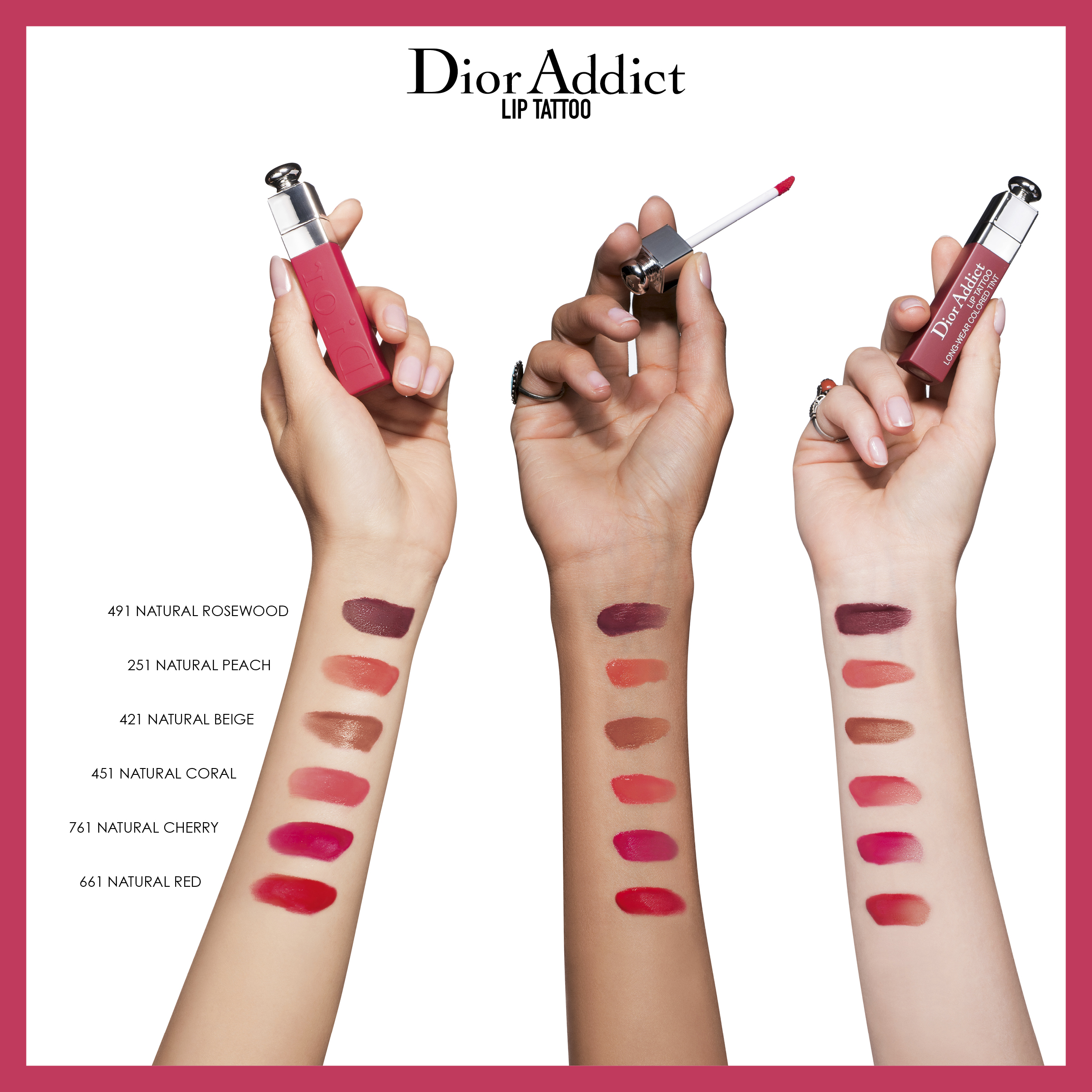 DIOR Addict Lip Tattoo, 761 Natural Cherry
