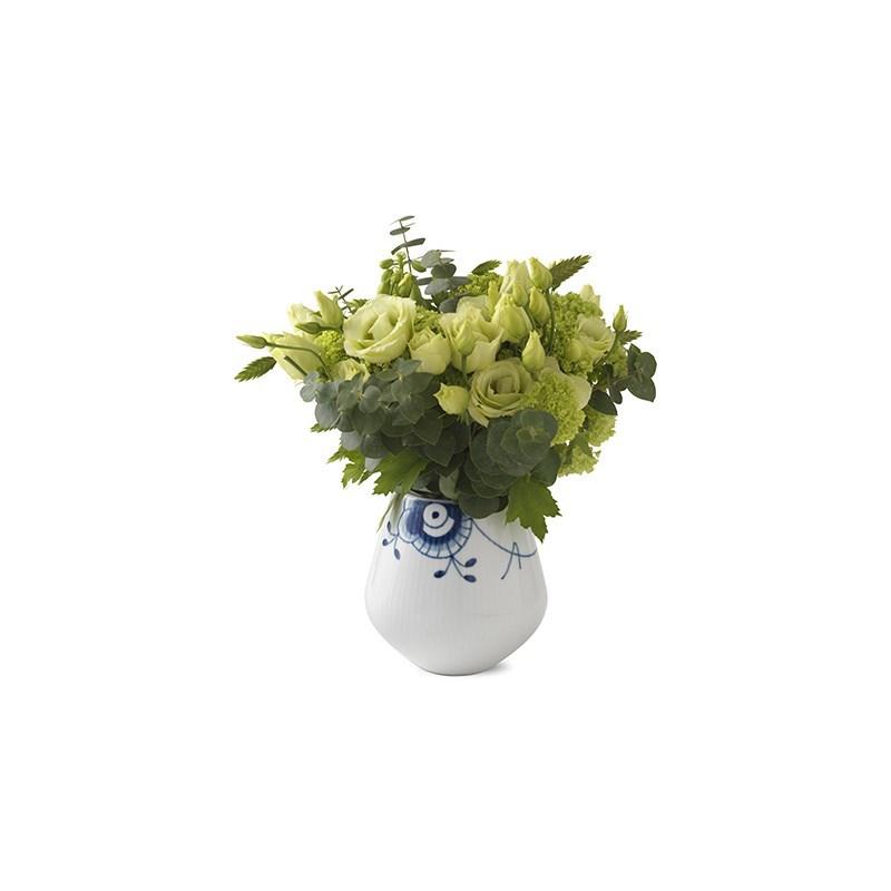 Royal Copenhagen Blå Mega Riflet vase, 12 cm