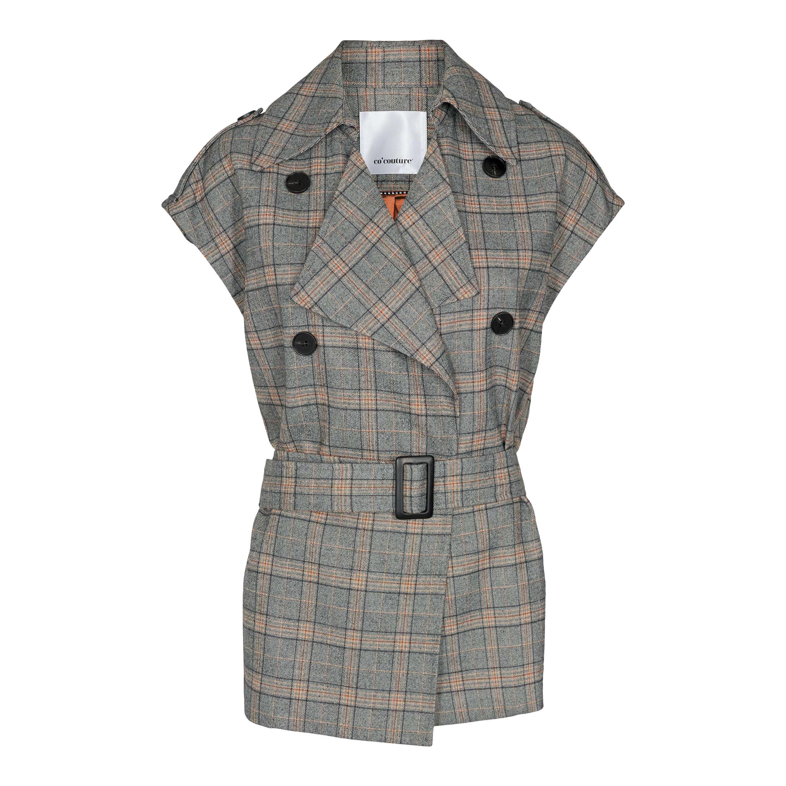 Co'Couture Panama Check vest