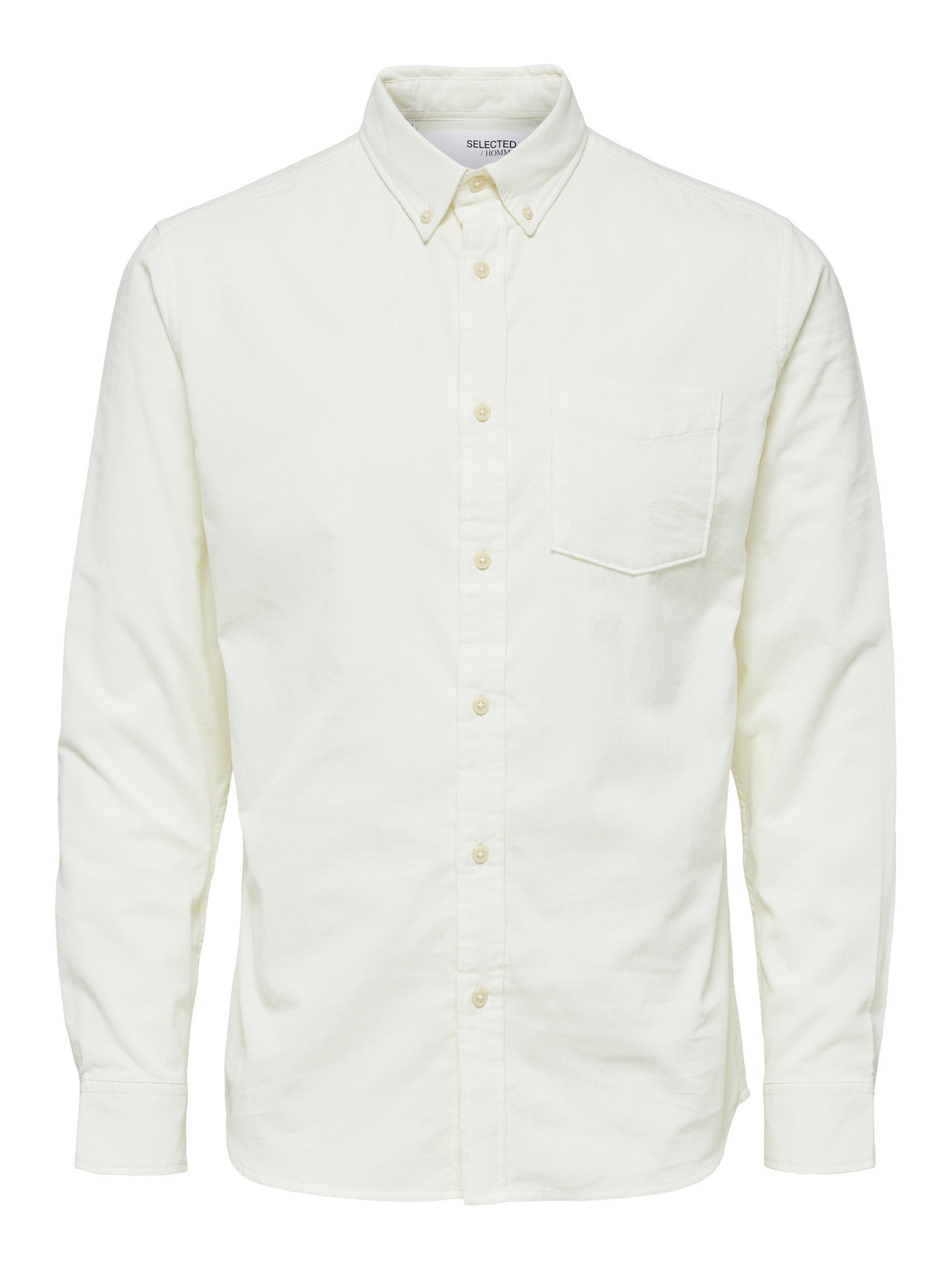 Selected Homme Slimoscar LS skjorte, egret, Small