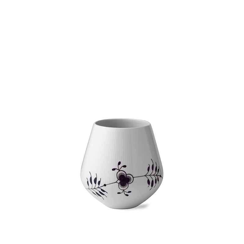 Royal Copenhagen Sort Mega Riflet vase, 20,5 cm