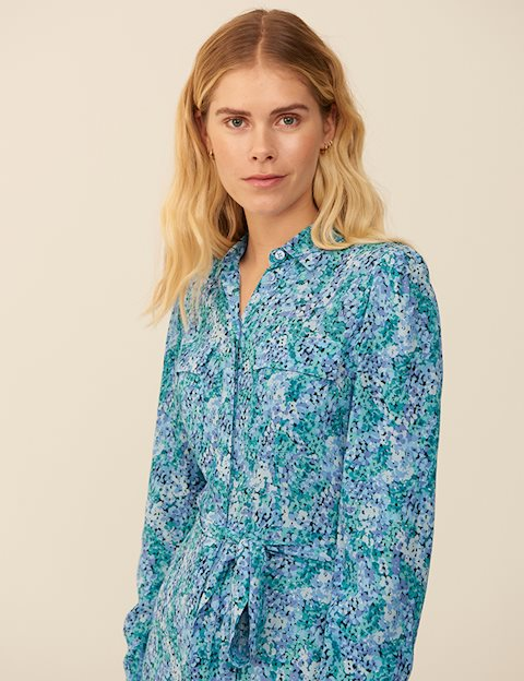 mbyM Beata kjole, blue print, small