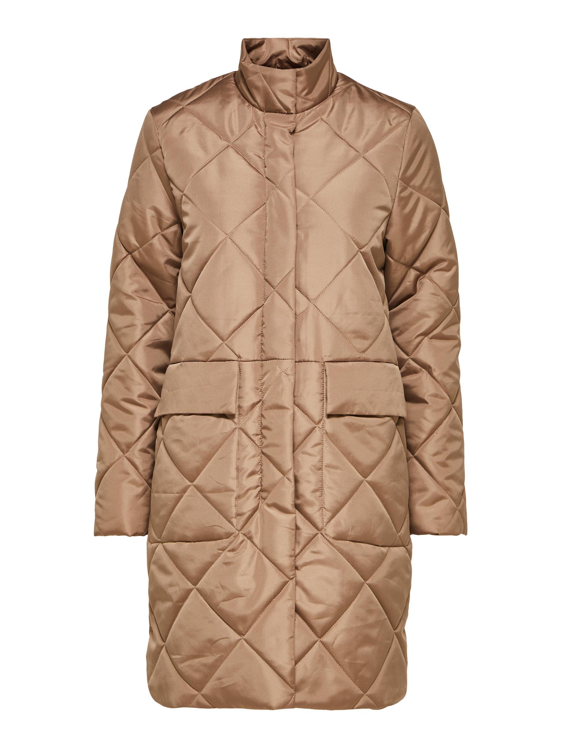Selected Femme Naddy quiltet jakke, caribou, 38