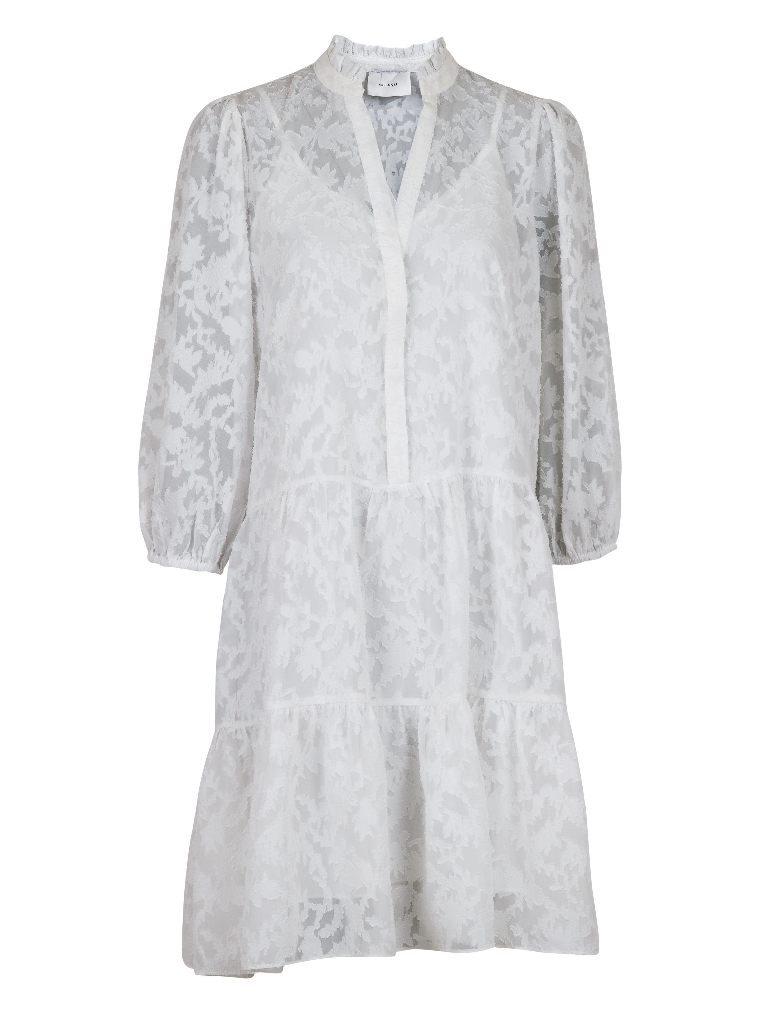 Neo Noir Fresia kjole, white, x-small