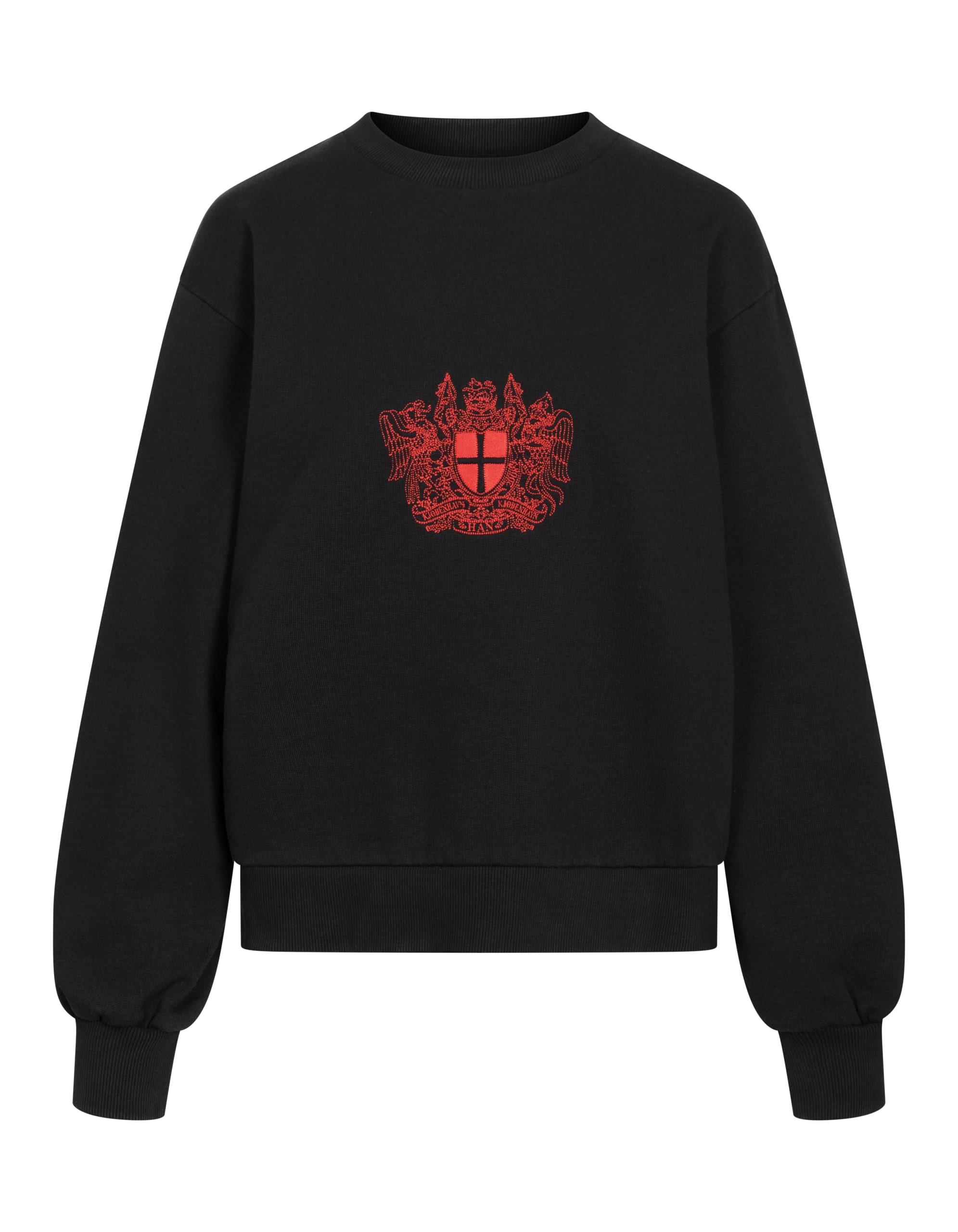 Han Kjøbenhavn Bulky Crew Sweatshirt, Faded Black, XS