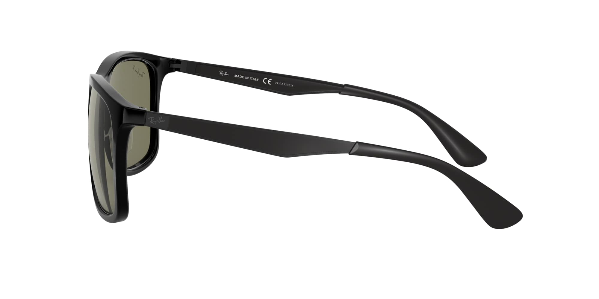 Ray Ban RB4313 solbriller, black gummetal/green classic