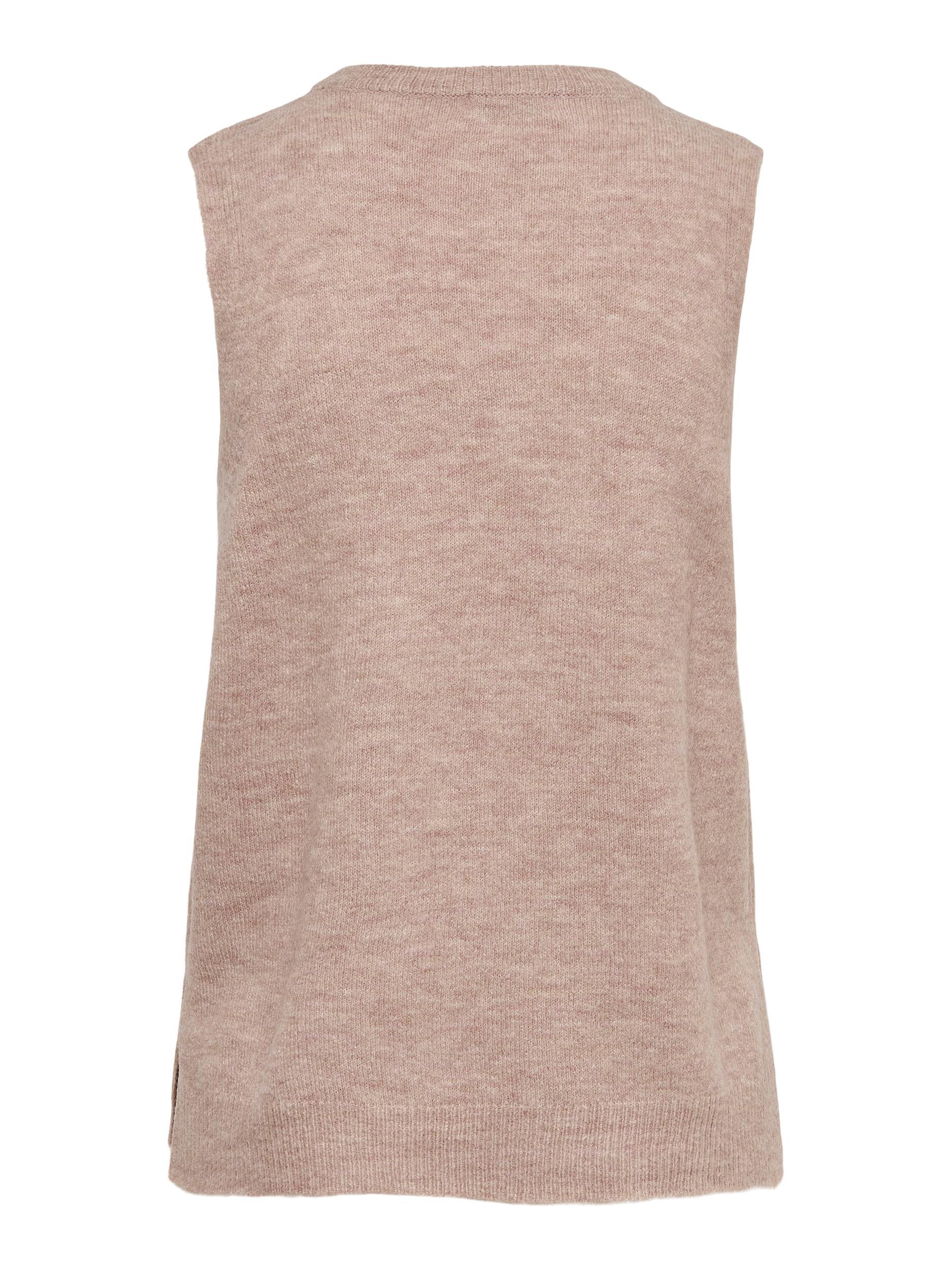 Jacqueline de Yong Elanor vest, adobe rose, large