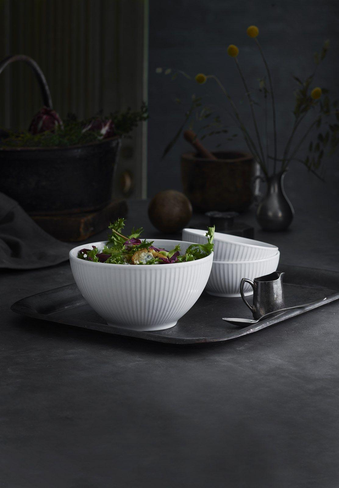 Pillivuyt Plisse skål, Ø20 cm, hvid