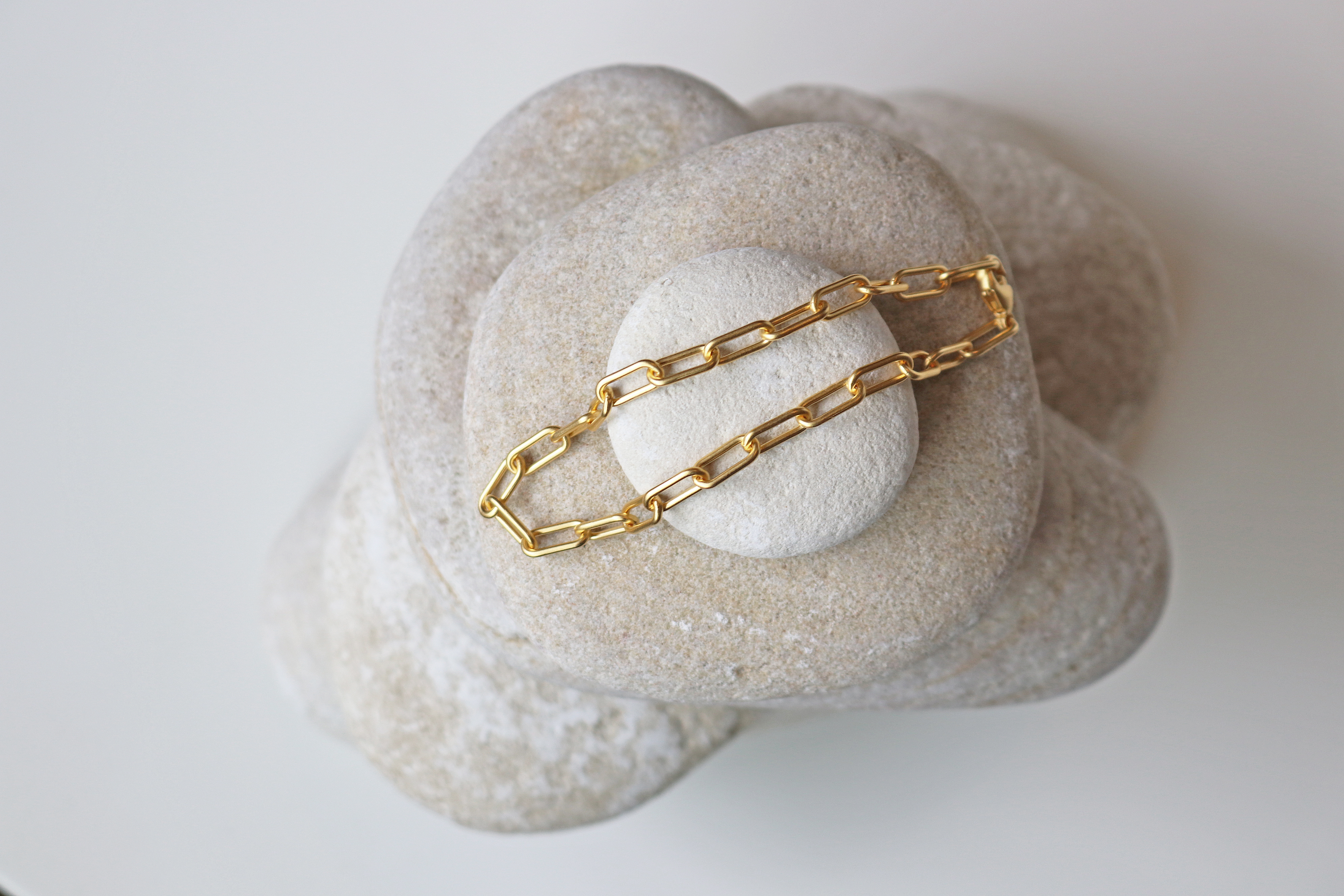 Julie Sandlau Link armbånd, guld