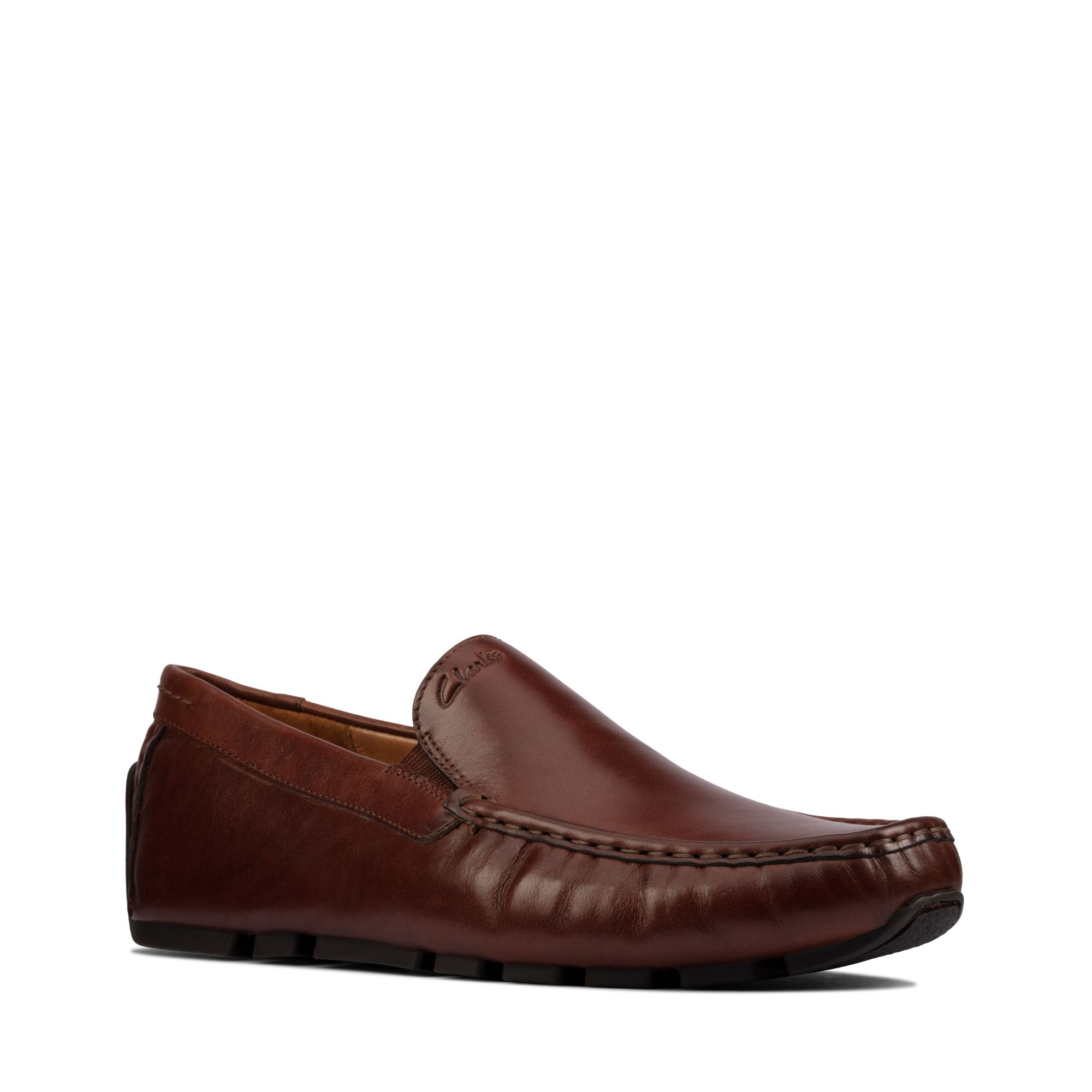 Clarks Oswick Edge Loafers, Tan Leather, 44.5