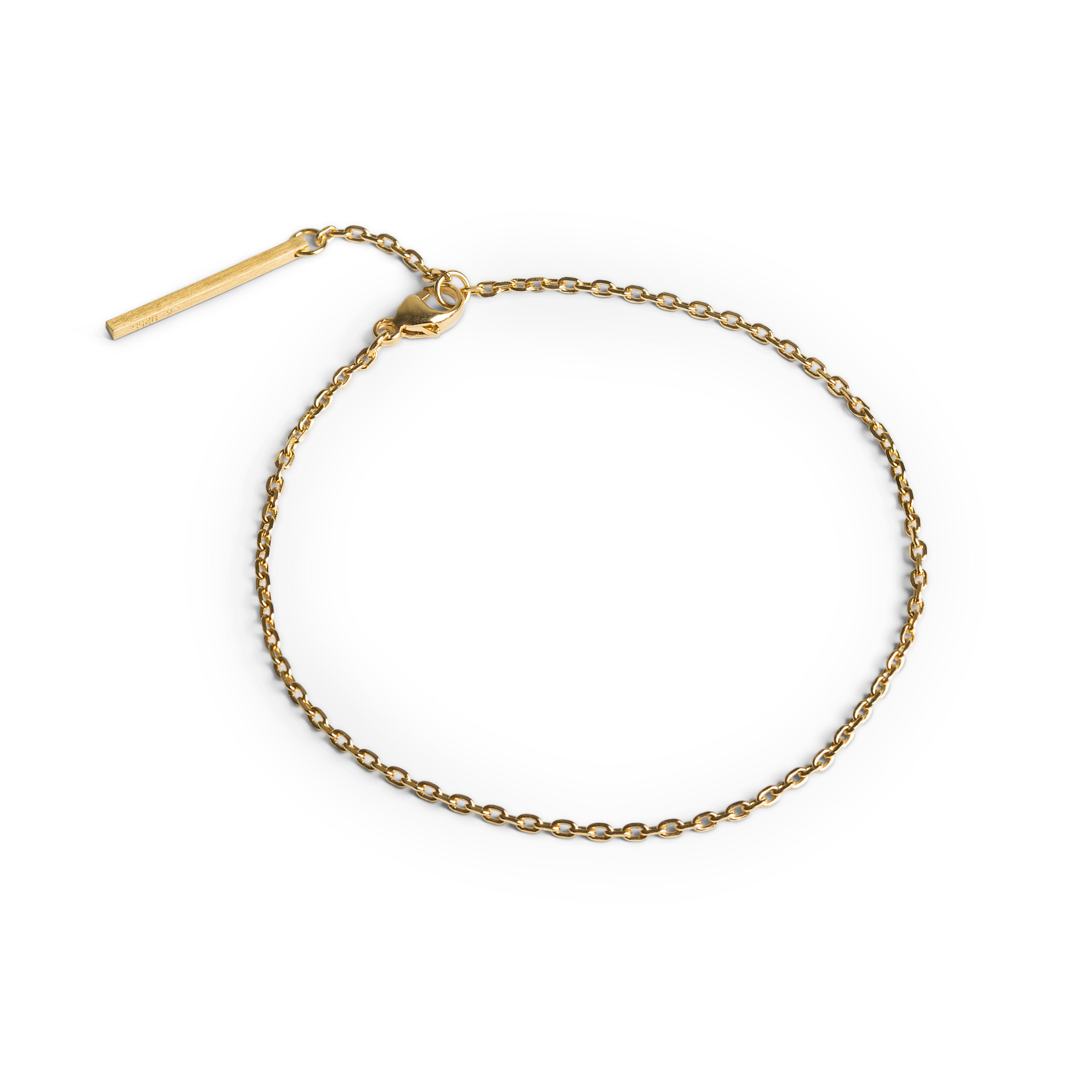 Jane Kønig Anchor Chain armbånd, guld