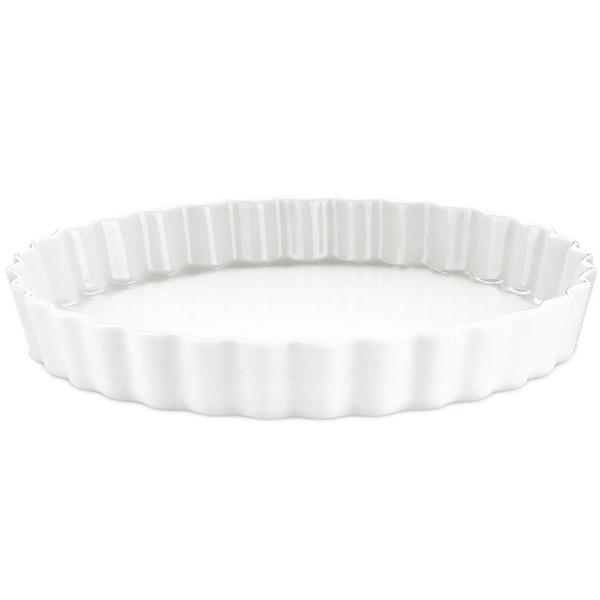 Pillivuyt tærteform nr. 11, Ø33 cm, hvid