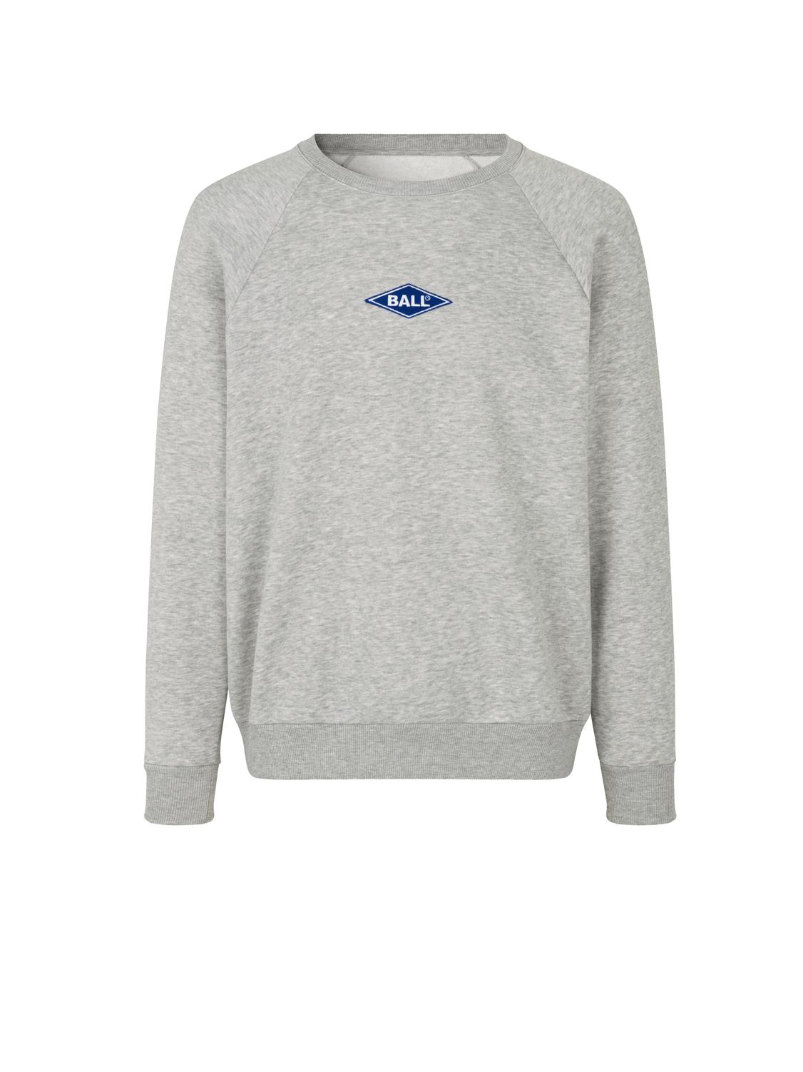BALL Original Raglan Crew Neck sweatshirt, light grey melange, large