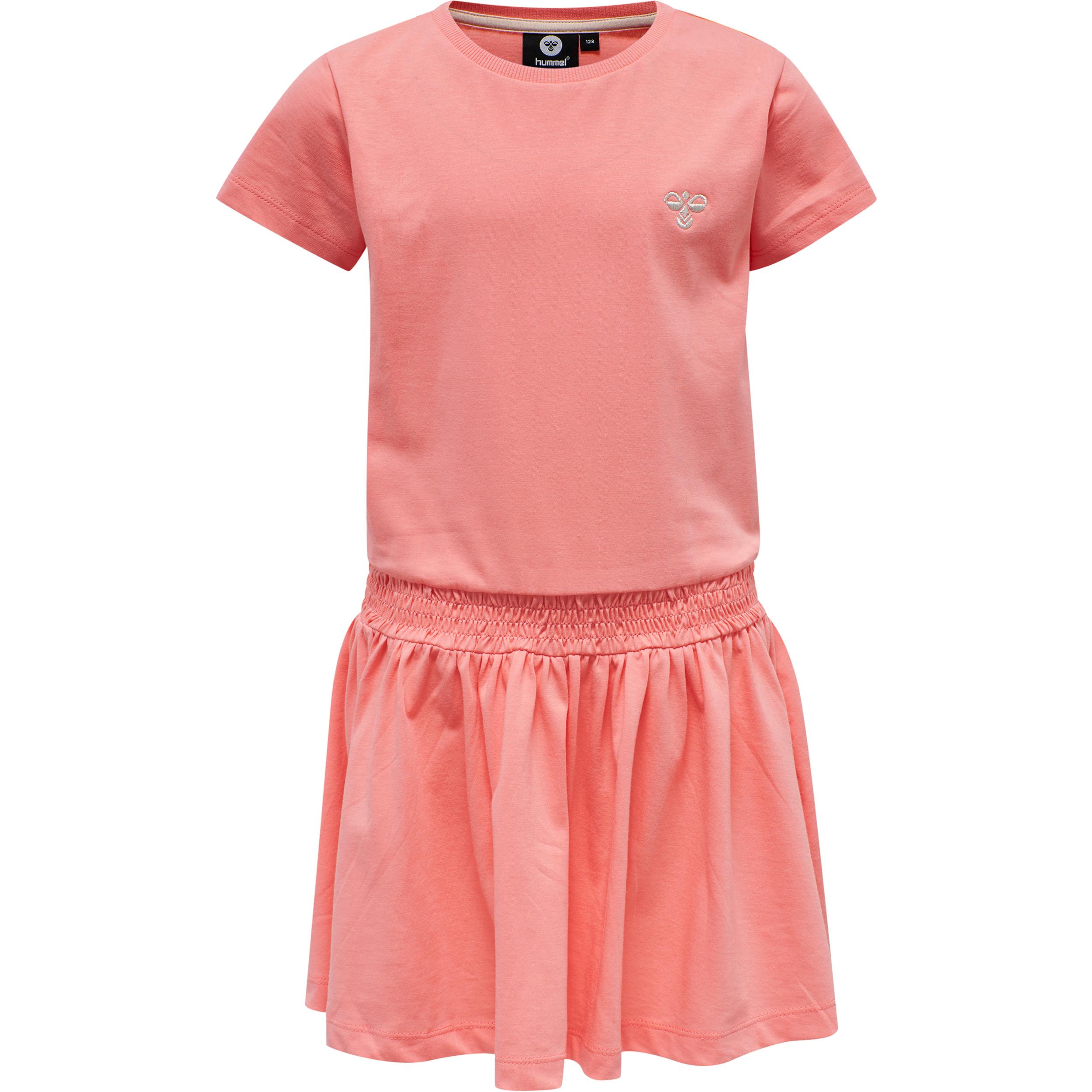 Hummel Summer SS kjole, Shell pink, 122