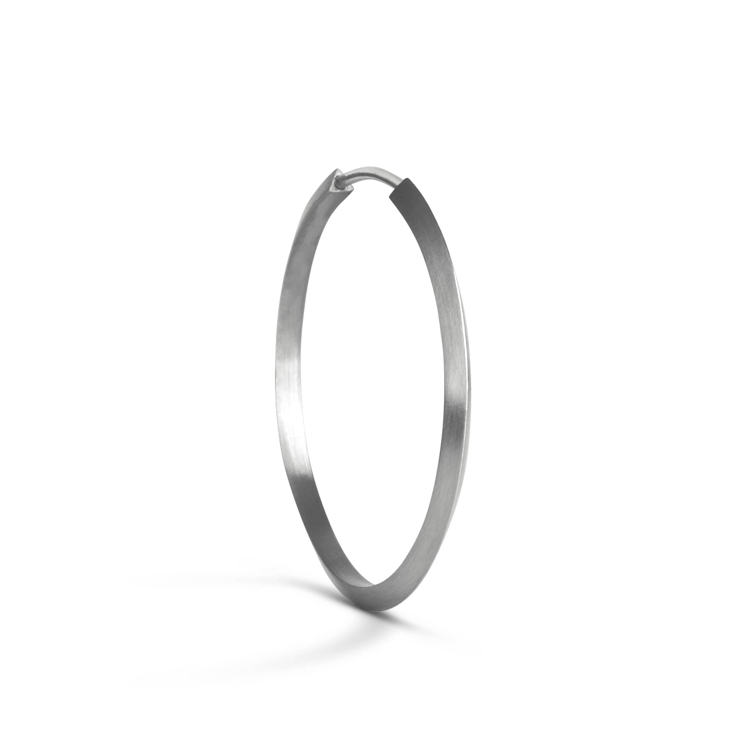 Jane Kønig Midi Hoop ørering, sølv