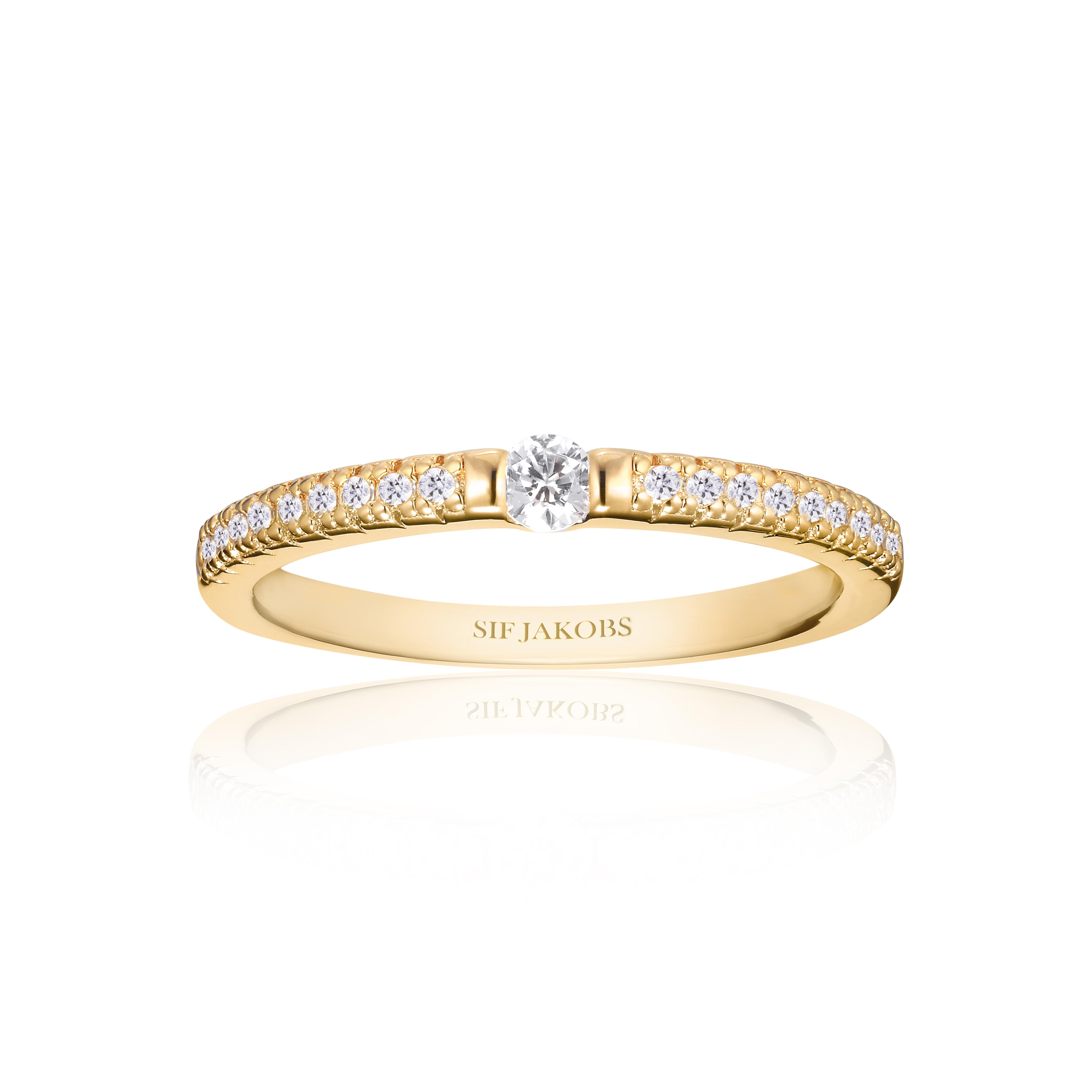 Sif Jakobs Jewellery Ellera Uno ring, guld, 58