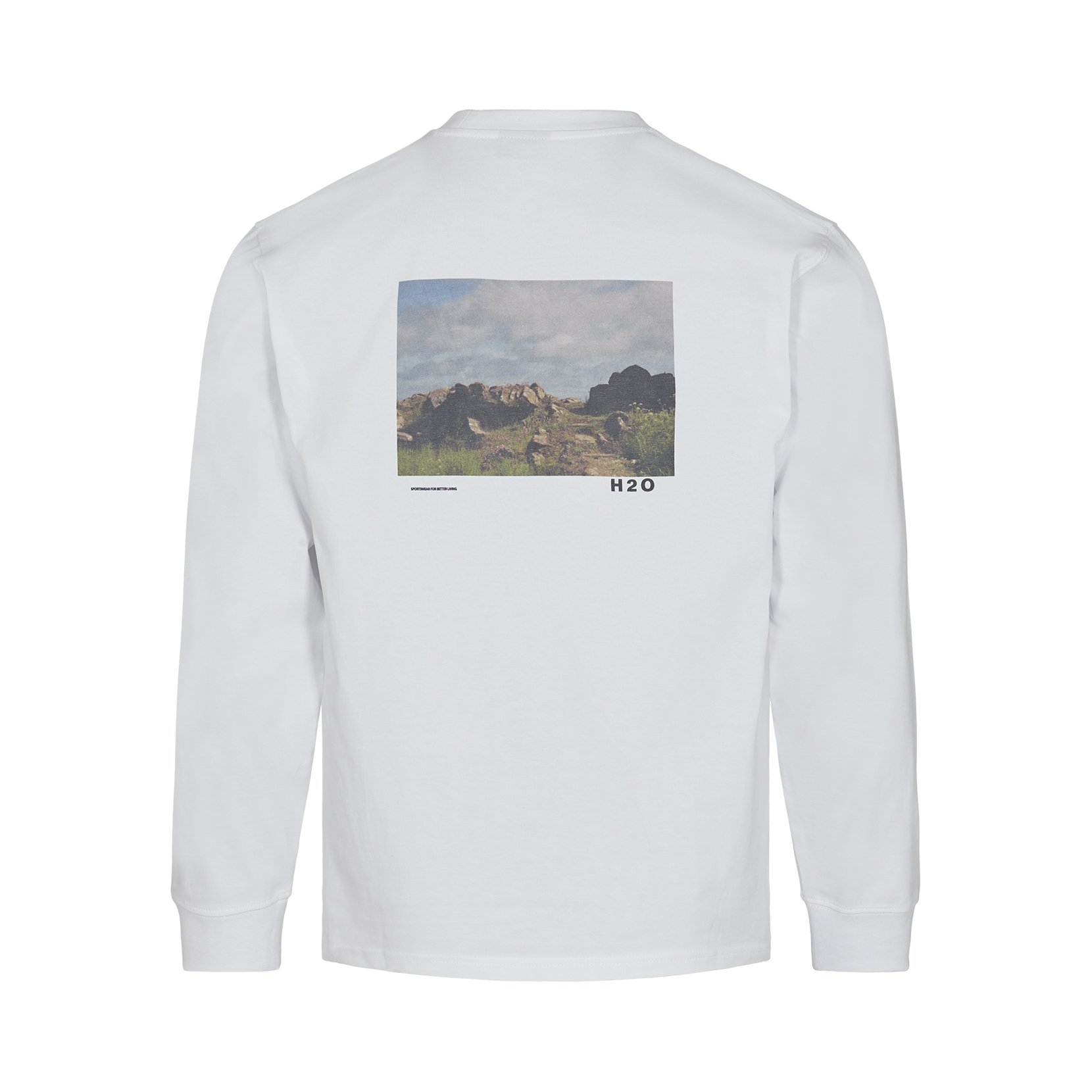 H2O Lilleø LS t-shirt, white, xx-large