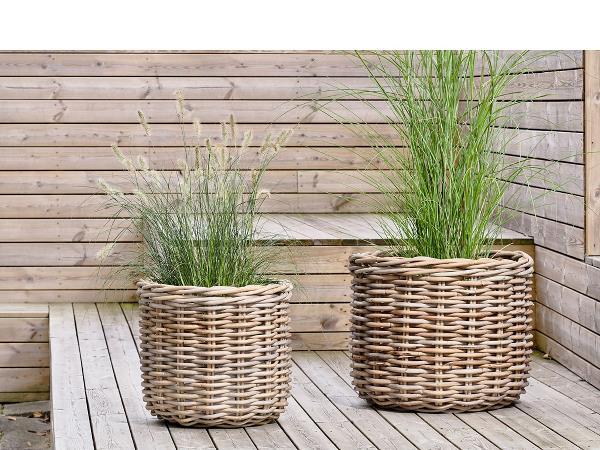 Villa Collection Planteskjuler kurv 2 stk, natur