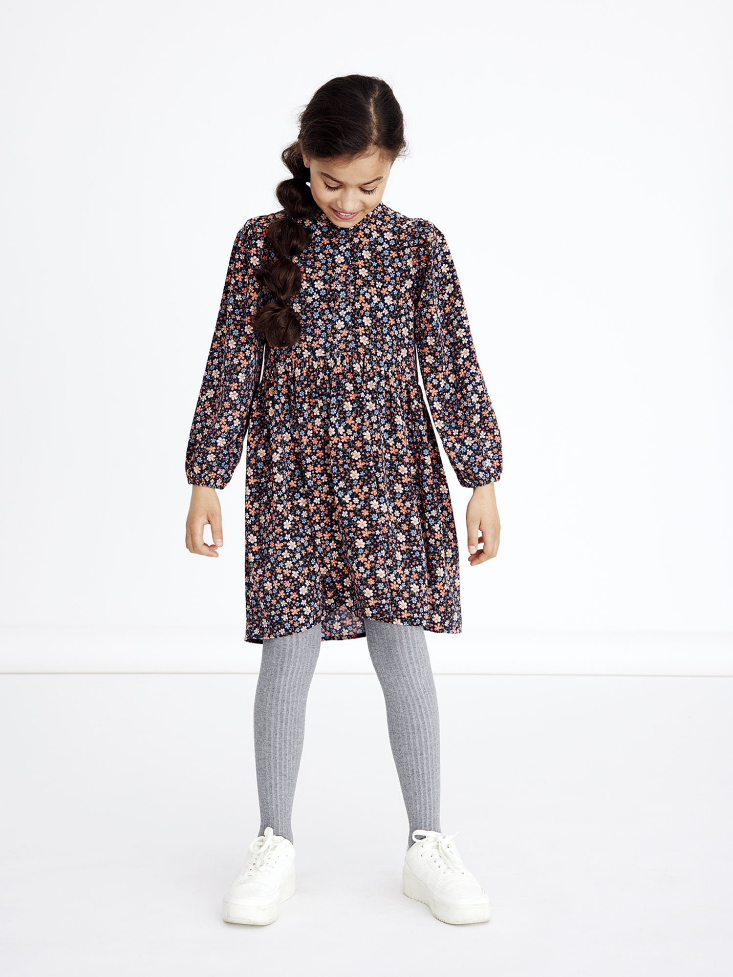 Name It Naya kjole, coral blush, 122 cm