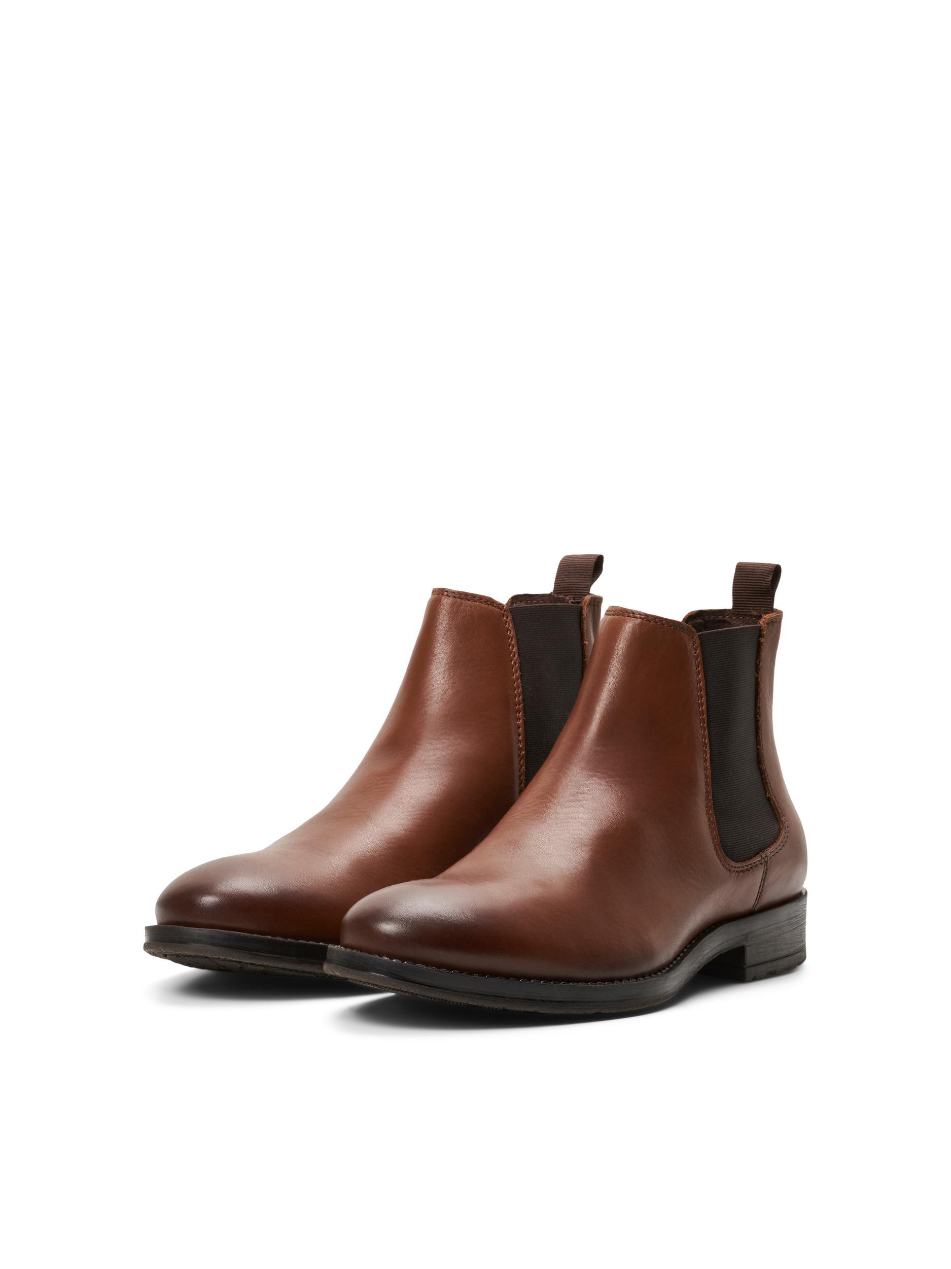 Jack and Jones læder støvler, Cognac, 46