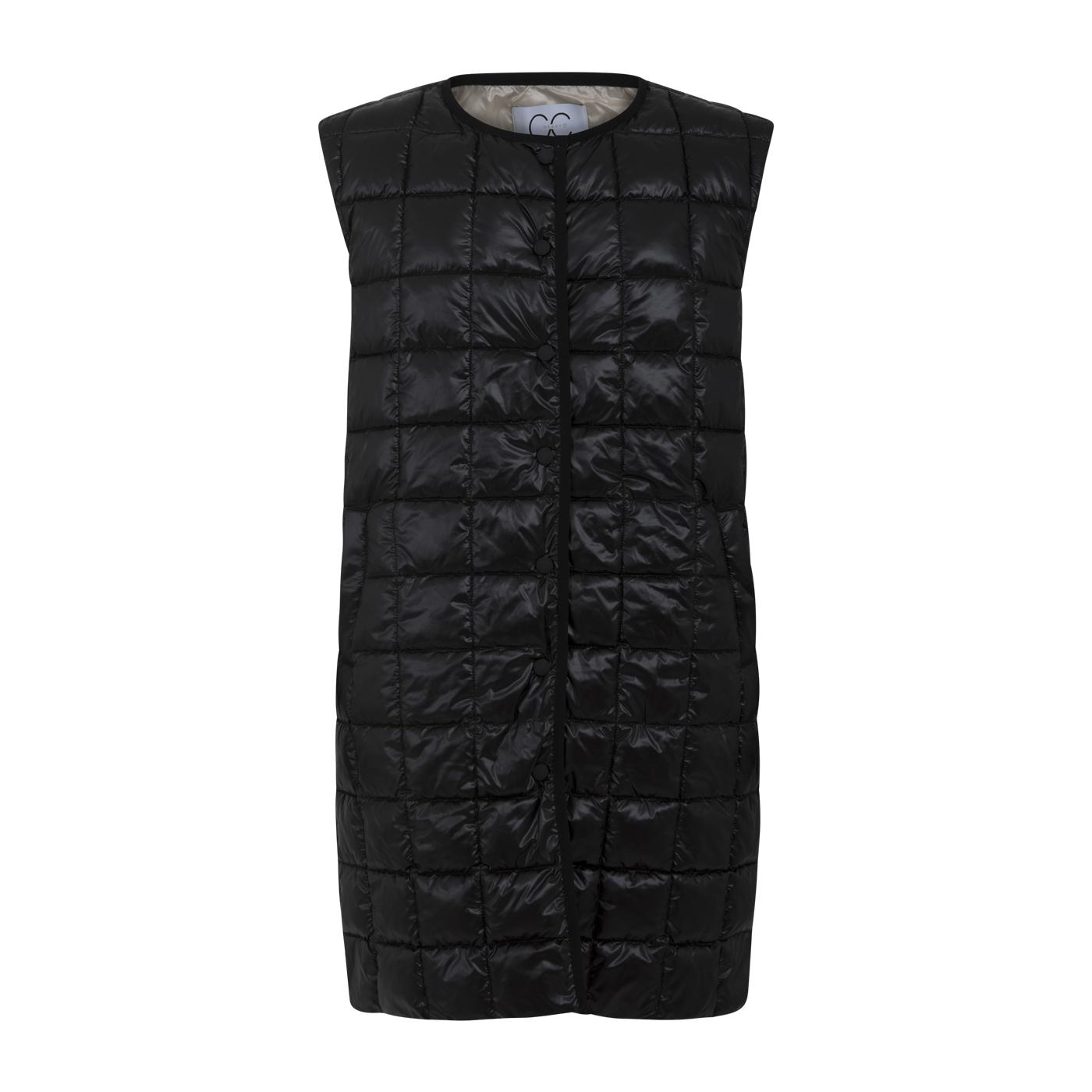 Coster Copenhagen Heart lang quiltet vest, black, 38