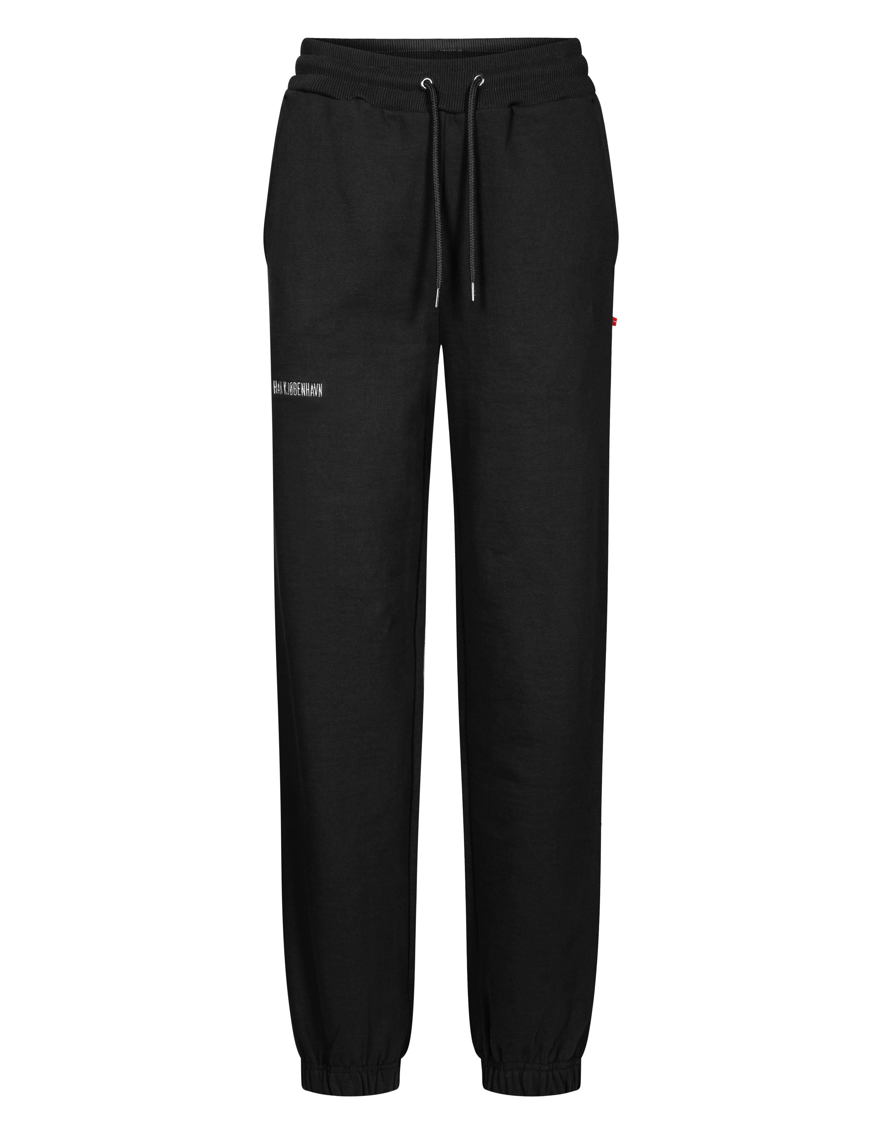 Han Kjøbenhavn sweatpants, black logo, medium