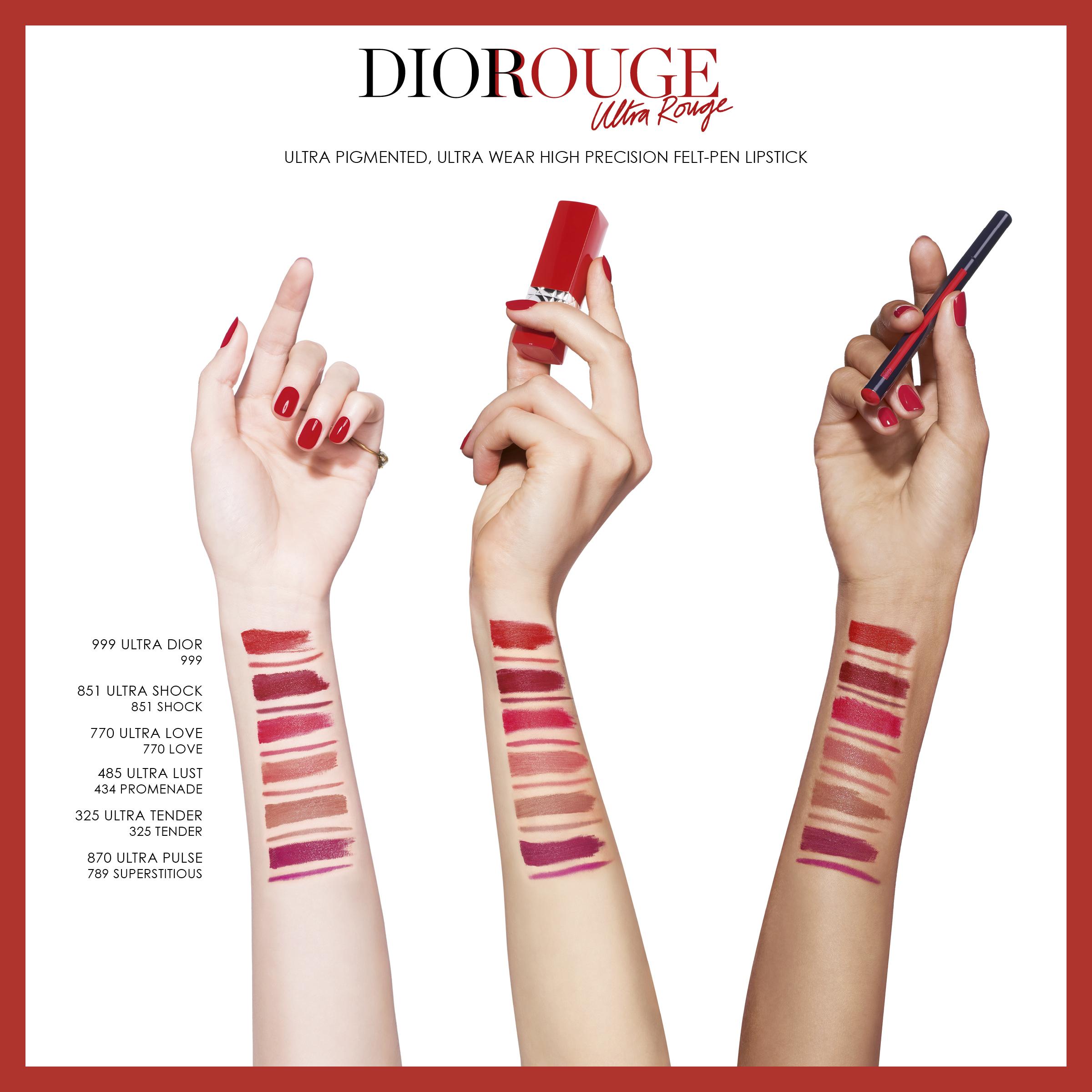 DIOR Rouge Dior Ultra Rouge, 851 Ultra Shock
