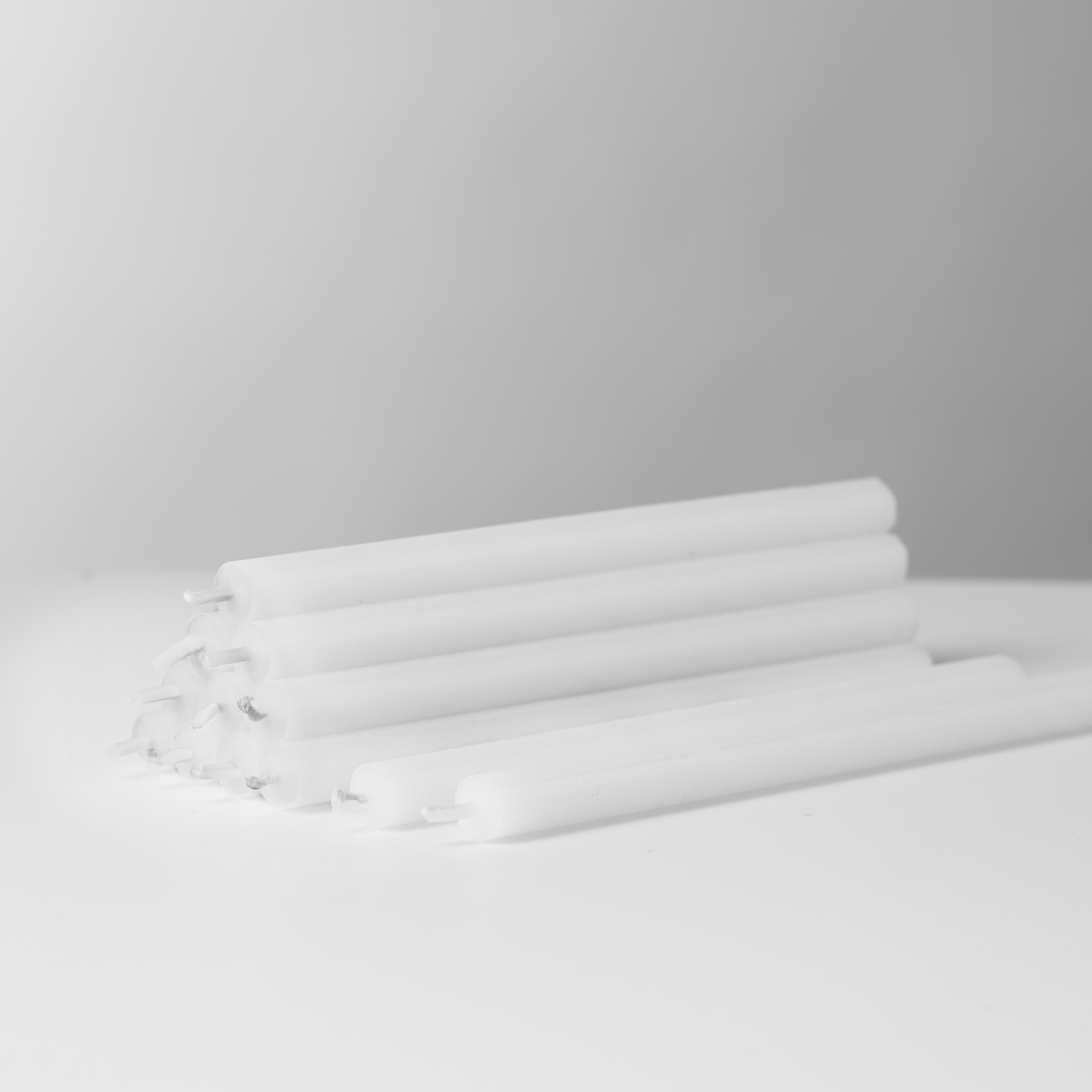 Stoff Nagel kertelys, hvid, 12 stk