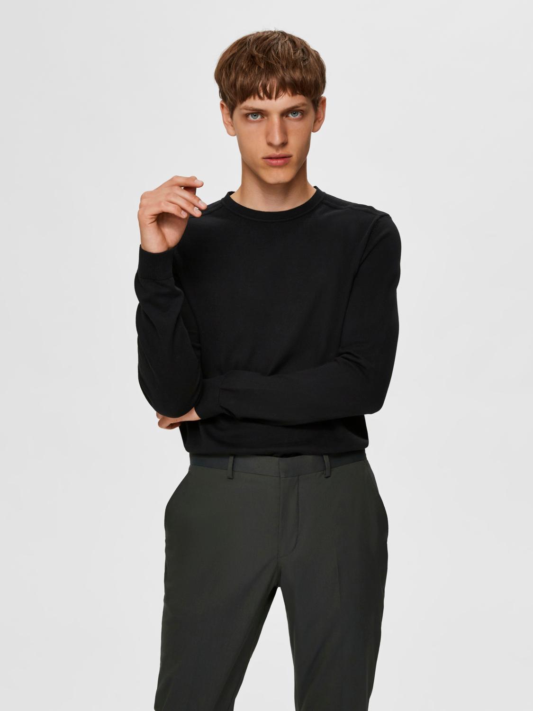 Selected Homme Berg Crew Neck strik, black, xx-large