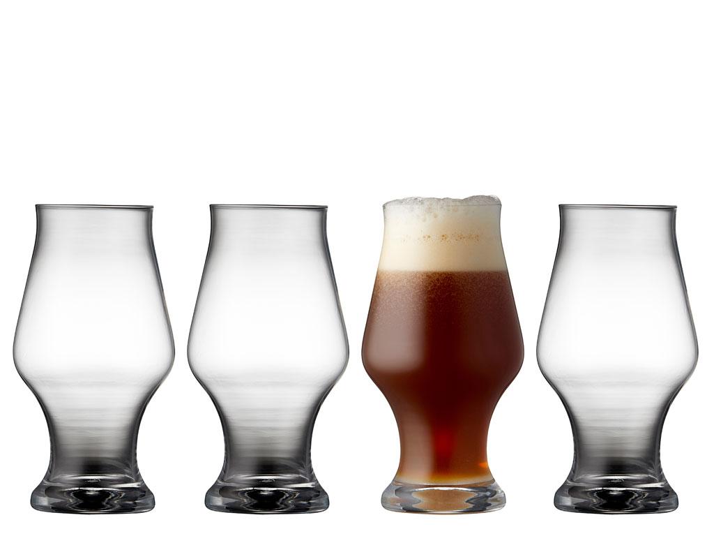 Lyngby Glas Krystal dark beer ølglas 4 stk