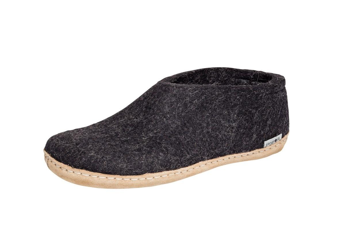 Glerups sko med skindsål, koksgrå, 45