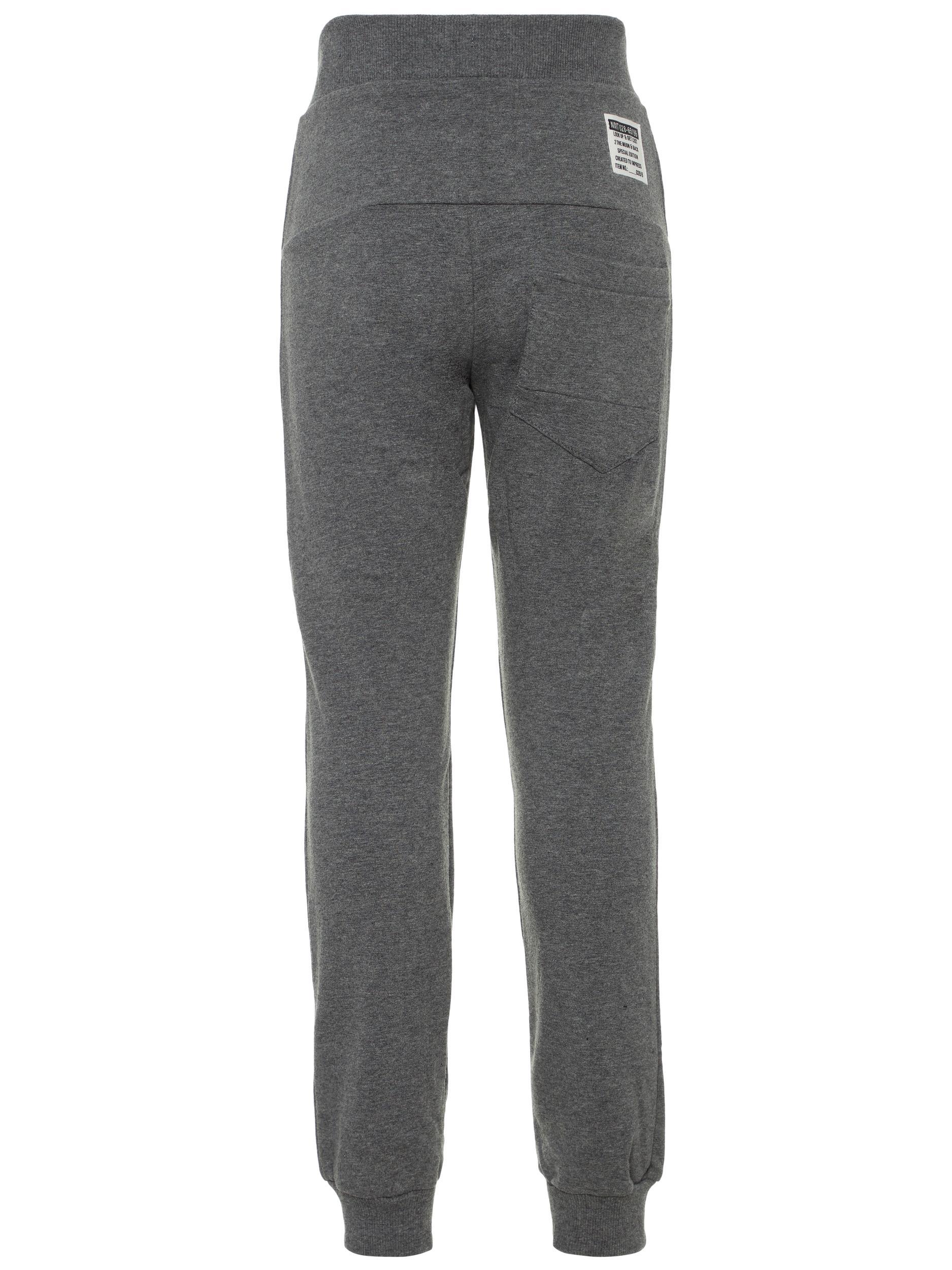 Name It Ensfarvede sweatpants, dark grey melange, 140