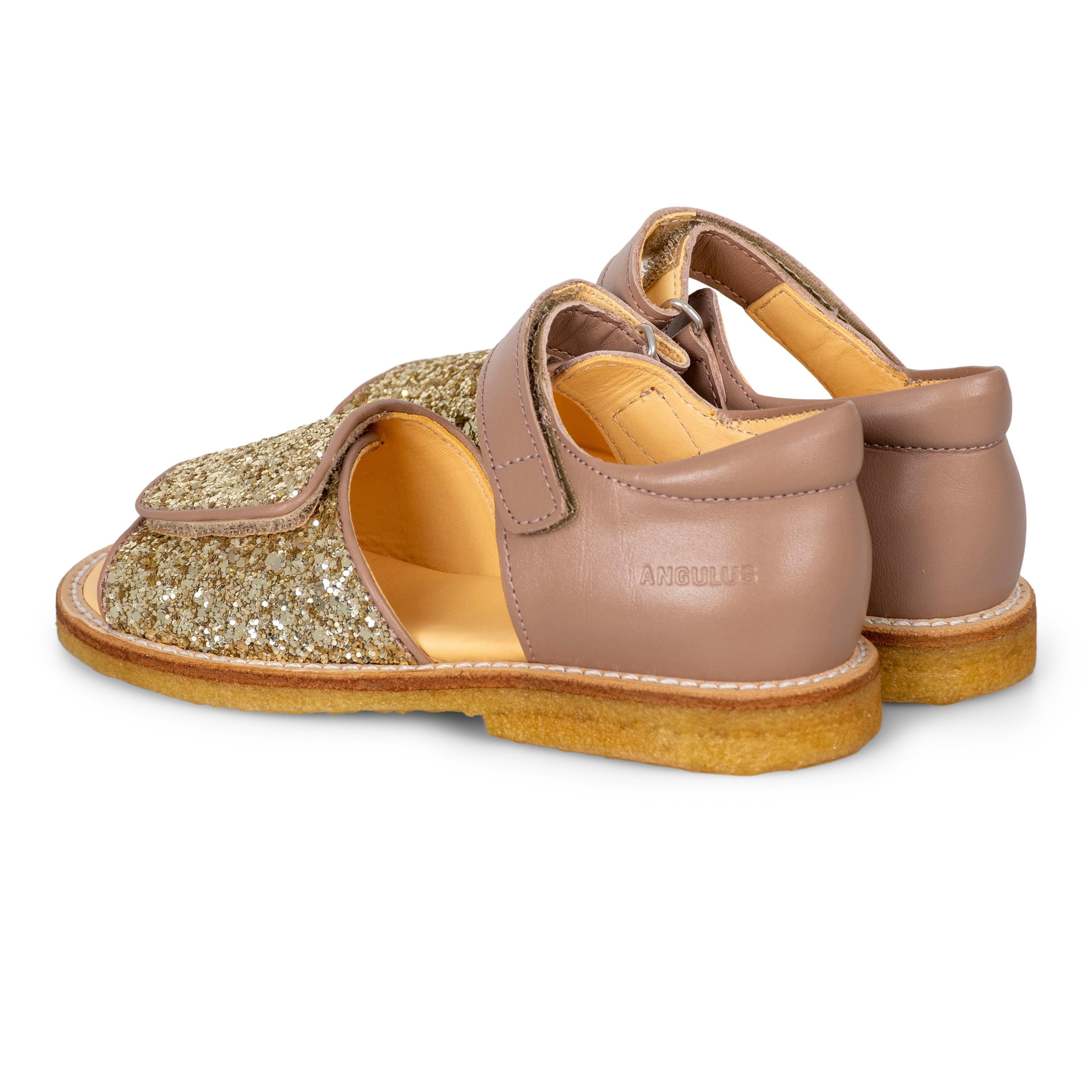 Angulus 0544-101 sandal, guld glimmer, 33