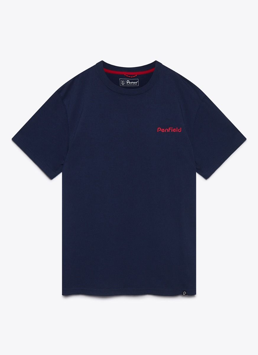 Penfield Stay t-shirt, navy, small