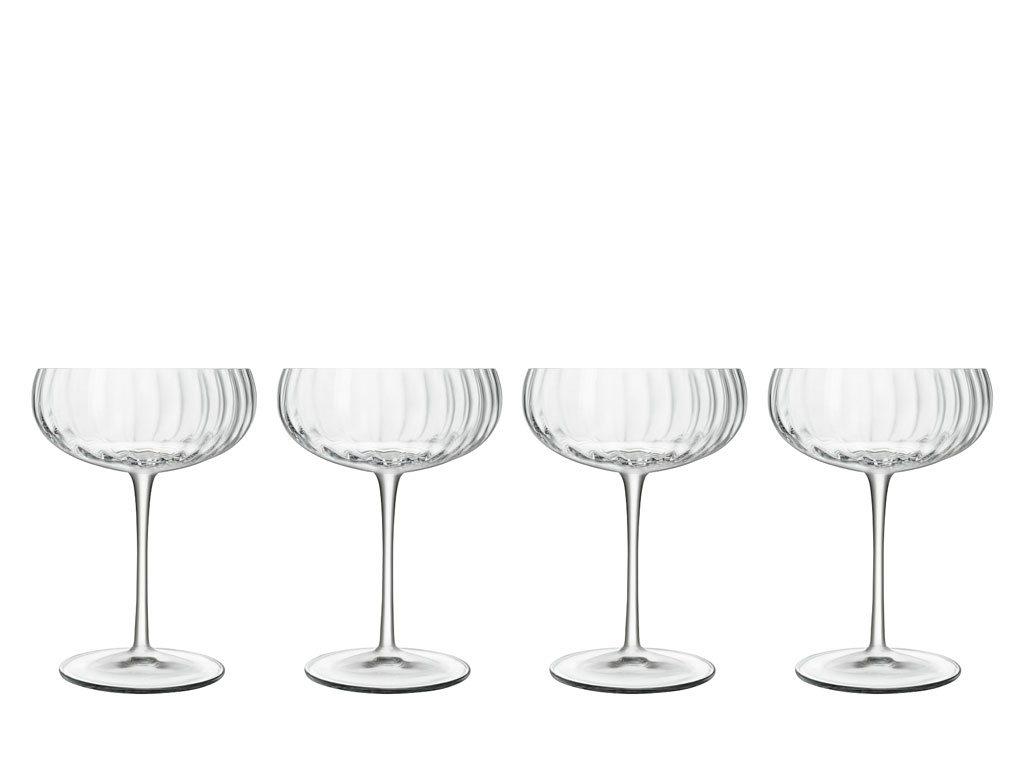 Luigi Bormioli Optica champagneskål, 4 stk.