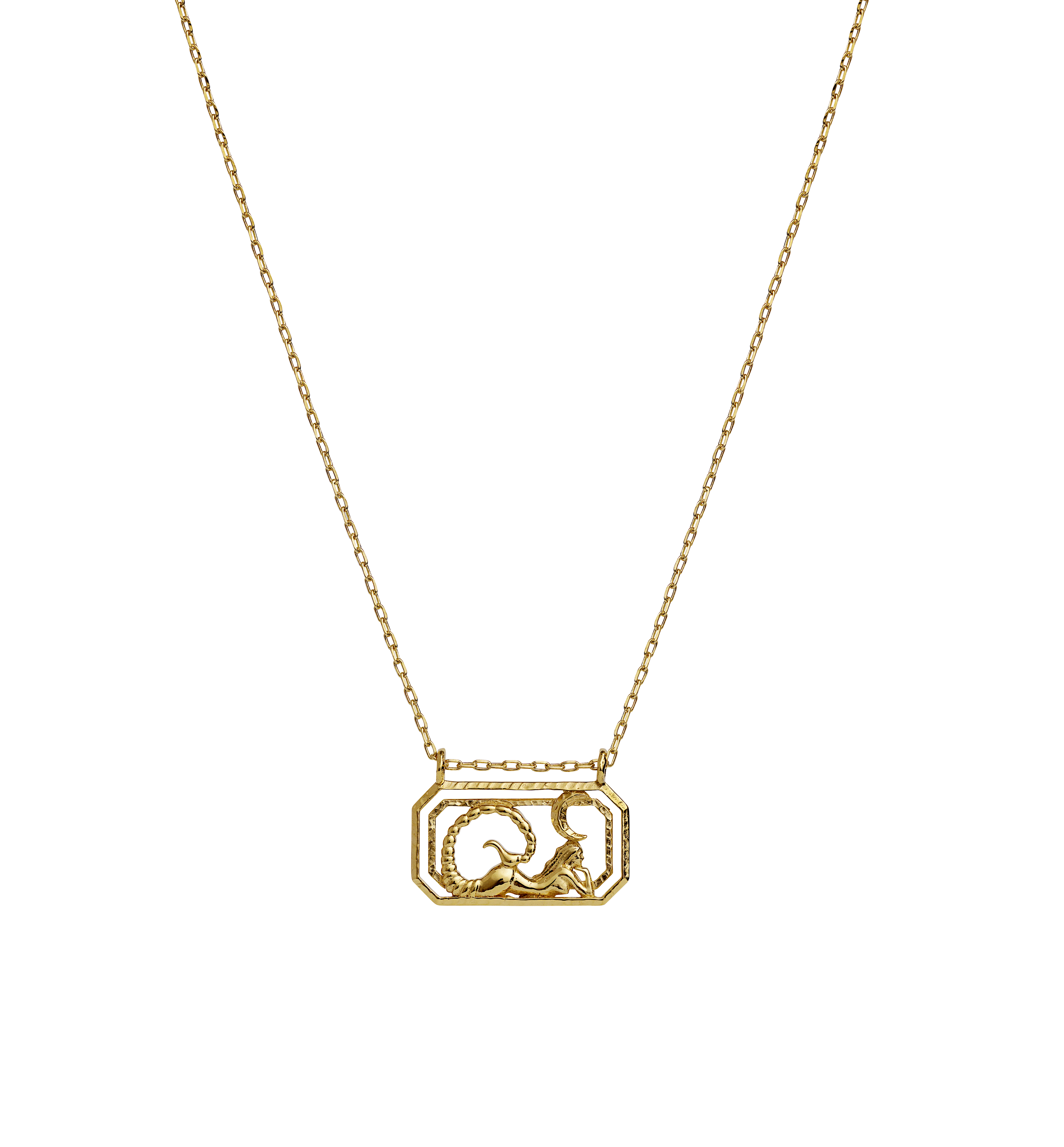 Maanesten Zodiac halskæde, Scorpio, guld, 45 cm