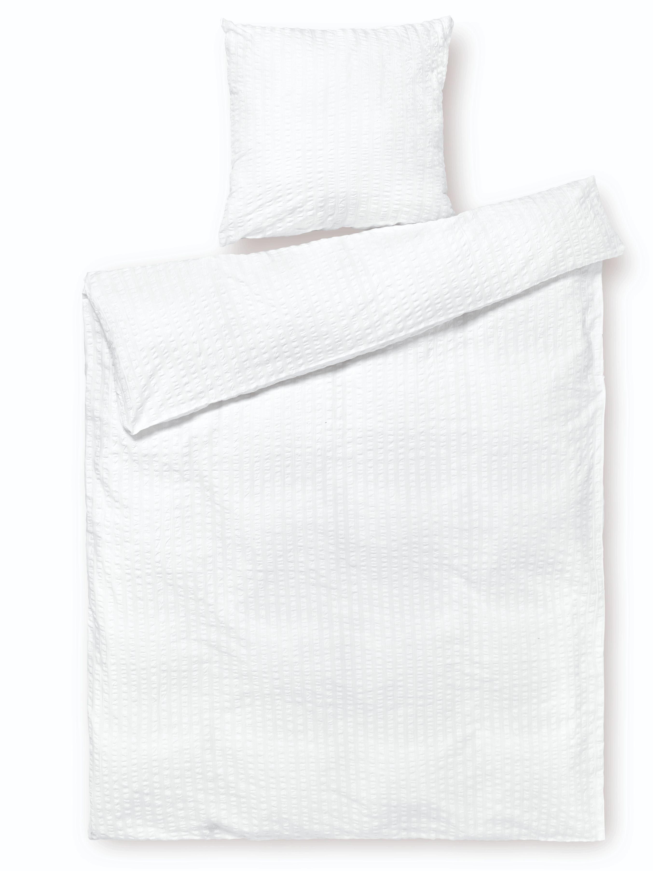 Juna Bæk&Bølge sengelinned, 140x200 cm, hvid