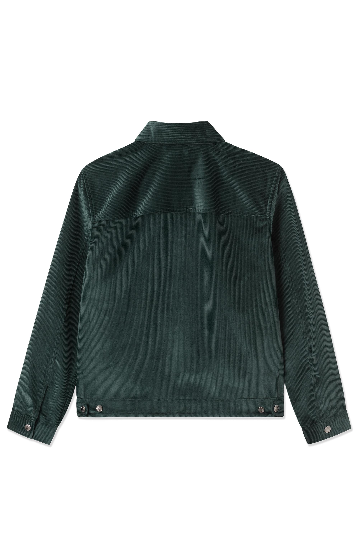 Wood Wood Eban 8w Zip jakke, dark emerald, large
