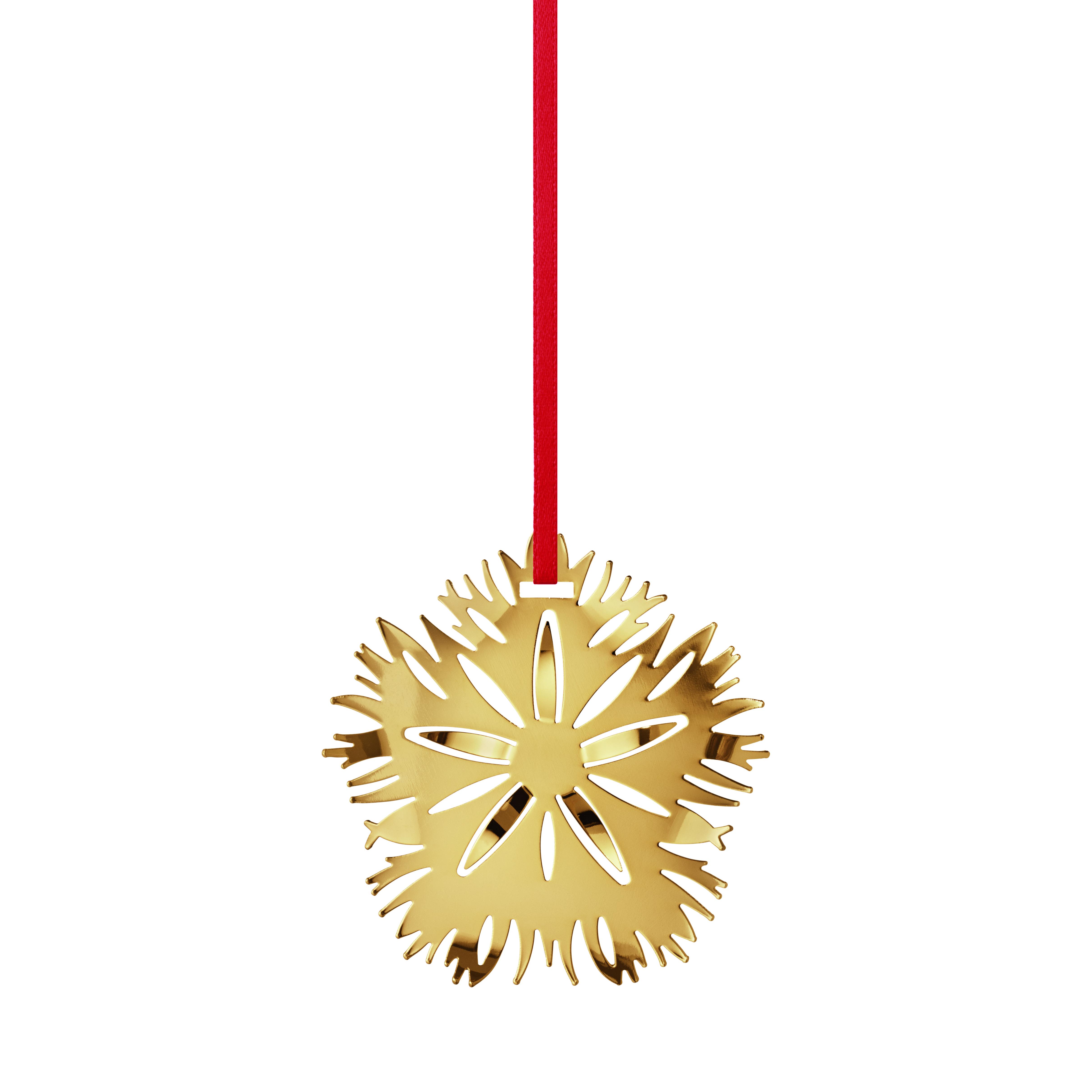 Georg Jensen 2020 nellike ornament, forgyldt