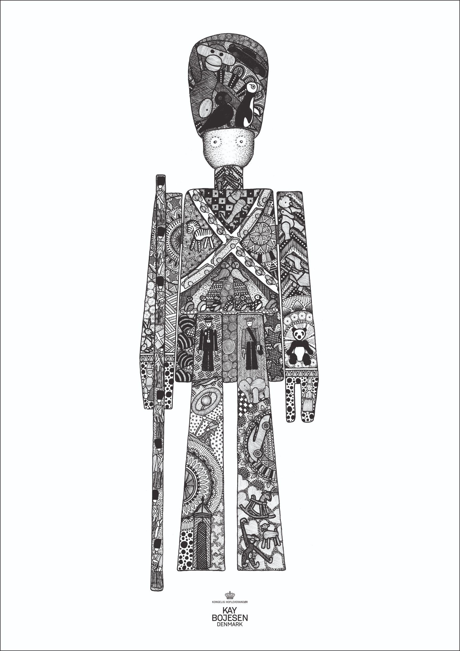 Kay Bojesen plakat, garder, 30x40 cm