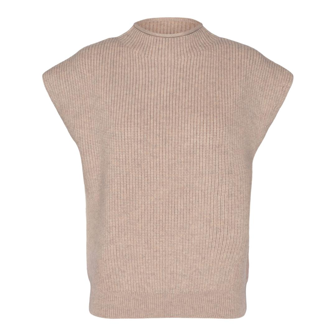 CoCouture Row Wing strikvest, Bone, L