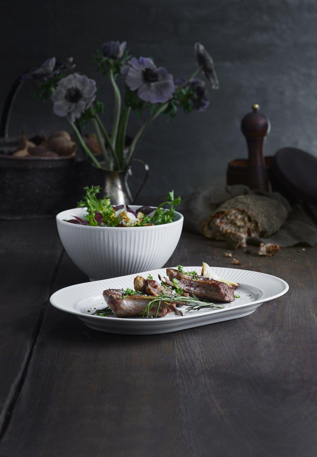 Pillivuyt Plisse serveringsfad, 36 cm, hvid