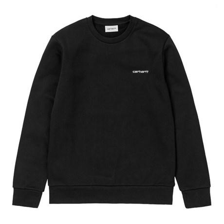 Carhartt Script embroidery sweatshirt, Black, Medium