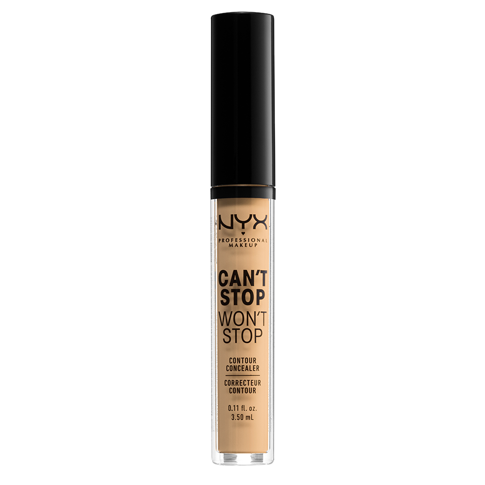 NYX Professional Makeup Cant Stop Wont Stop 24-Hours Concealer, true beige