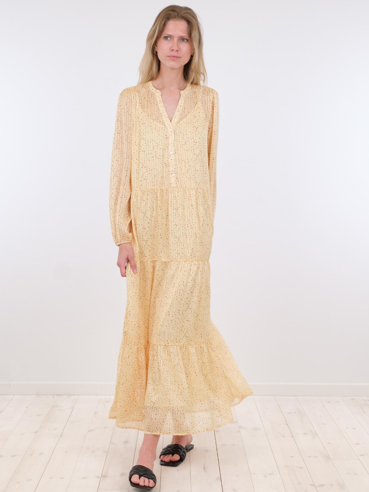 Neo Noir Nobis Sparkle kjole, yellow, 38