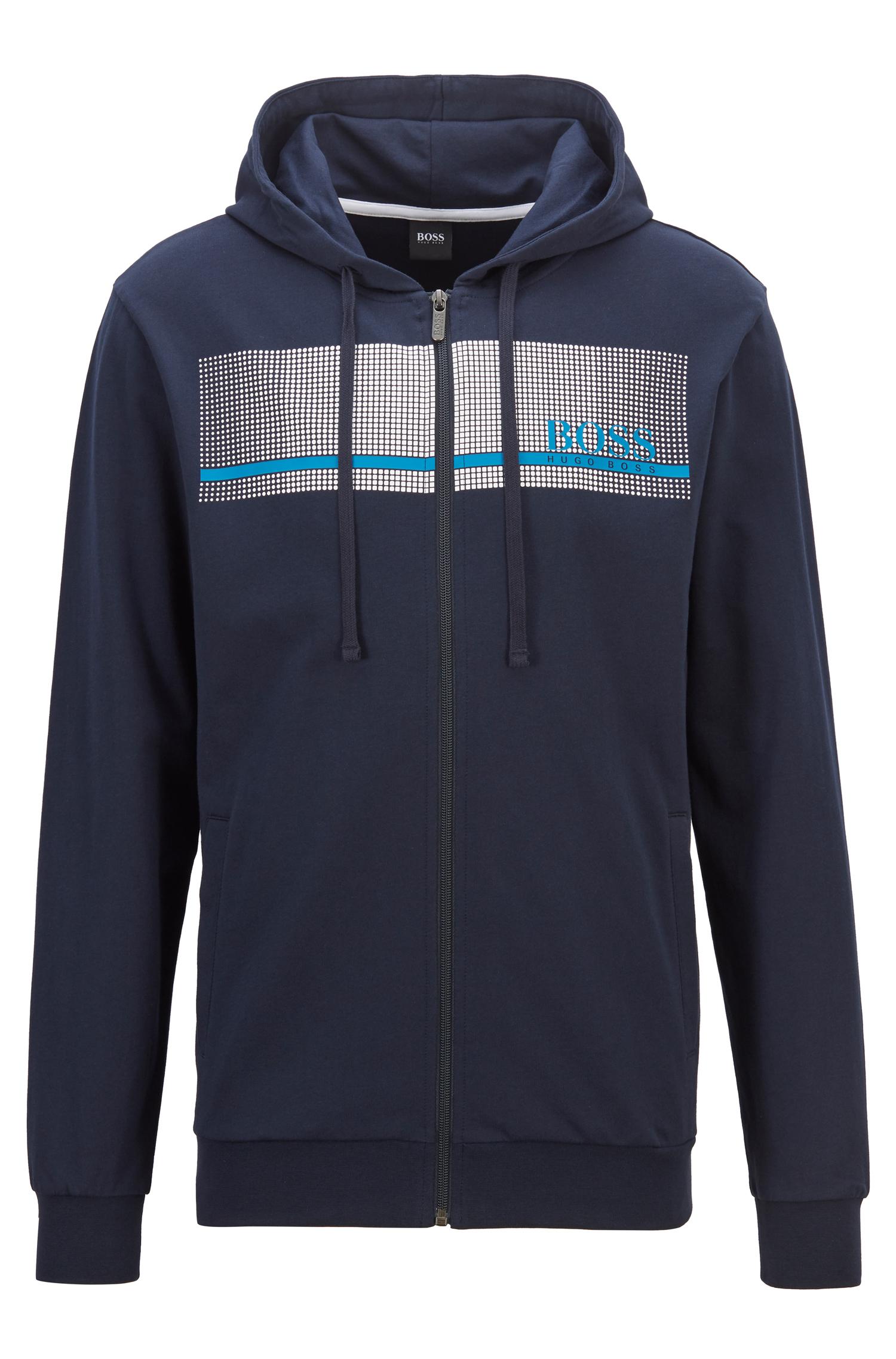 Hugo Boss loungwear jakke med hætte, dark blue, Small