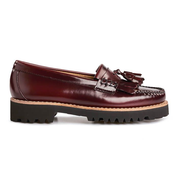 G.H. Bass Weejuns 90s Esther Kiltie loafers, wine, 36
