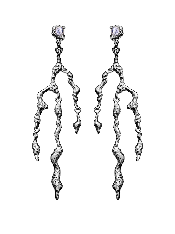 Maanesten Nori øreringe, sølv