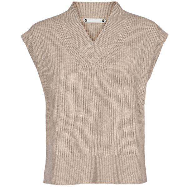 CoCouture Anisa vest, bone, x-small